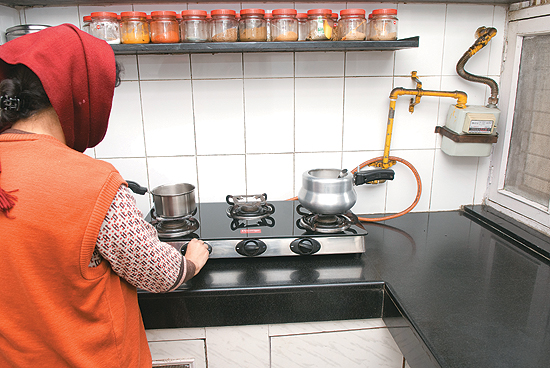 cooking gas pipeline