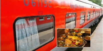 food rajdhani express menu change
