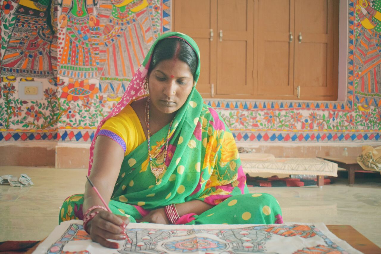 Madhubani painting artist art